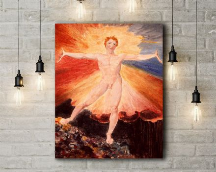 William Blake: Glad Day or The Dance of Albion. Fine Art Canvas.